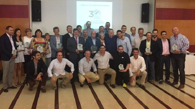 Foto Premiados - Gala 30 Aniversario Federación Extremeña de Voleibol