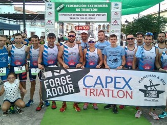 El Capex Masculino tercero en el Campeonato de Extremadura de Triatlón Sprint