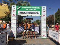 Vencedores Triatlon de Coria 2017.Masculina