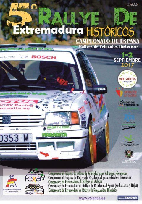 Este fin de semana se disputa V Rallye de Extremadura Histórico