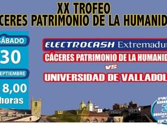 Presentación del Electrocash Cáceres y Trofeo Cáceres Patrimonio de la Humanidad