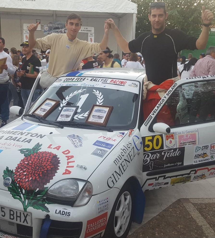 Sebastián Pescador y Cristóbal Pescador se hacen con la Copa Fexa RallyAl Racing