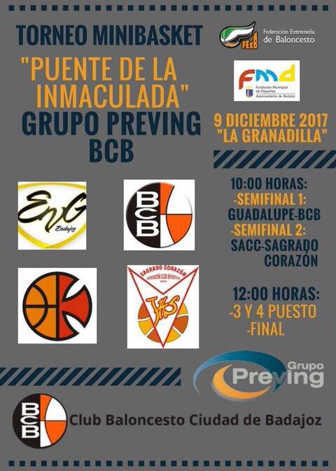 Cartel I Torneo minibasket Puente de la Inmaculada