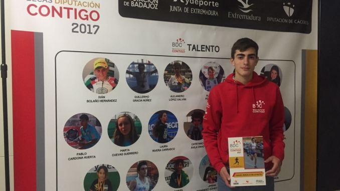 """Manuel Ridruejo, del CAPEX, consigue la beca """"DIPUTACIÓN CONTIGO"""""""