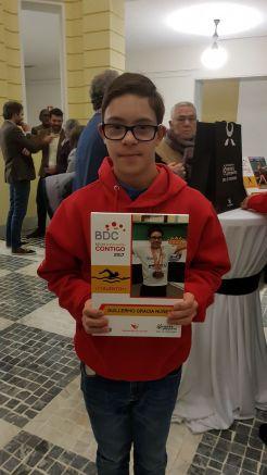 Guillermo Gracia Núñez recibe la Beca Contigo Talento de la fundación jóvenes y deportes