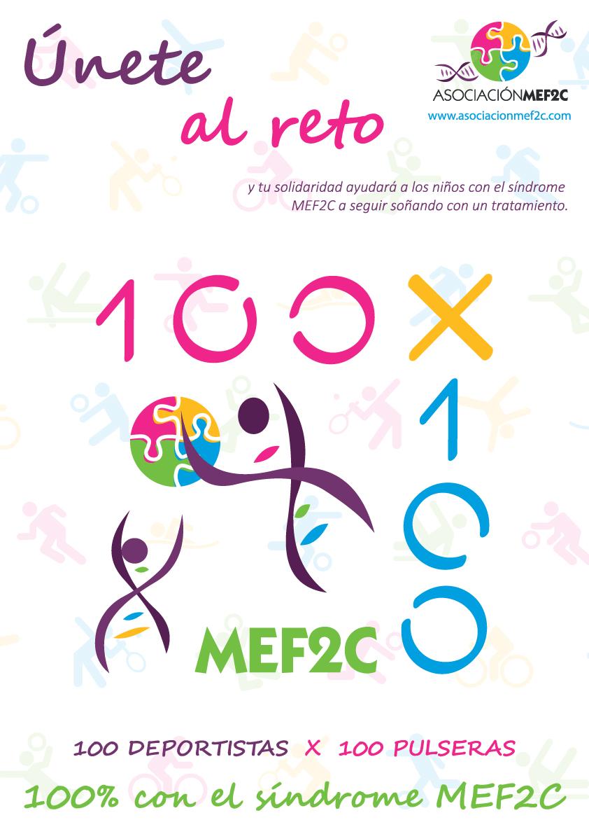 Únete al Reto 100 x 100 con el MEF2C (Asociación Síndrome MEF2C)