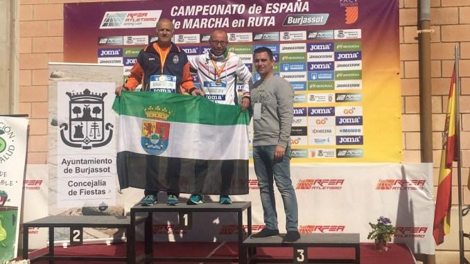 Miguel Periañez campeón de España en los 20km de la categoría M55
