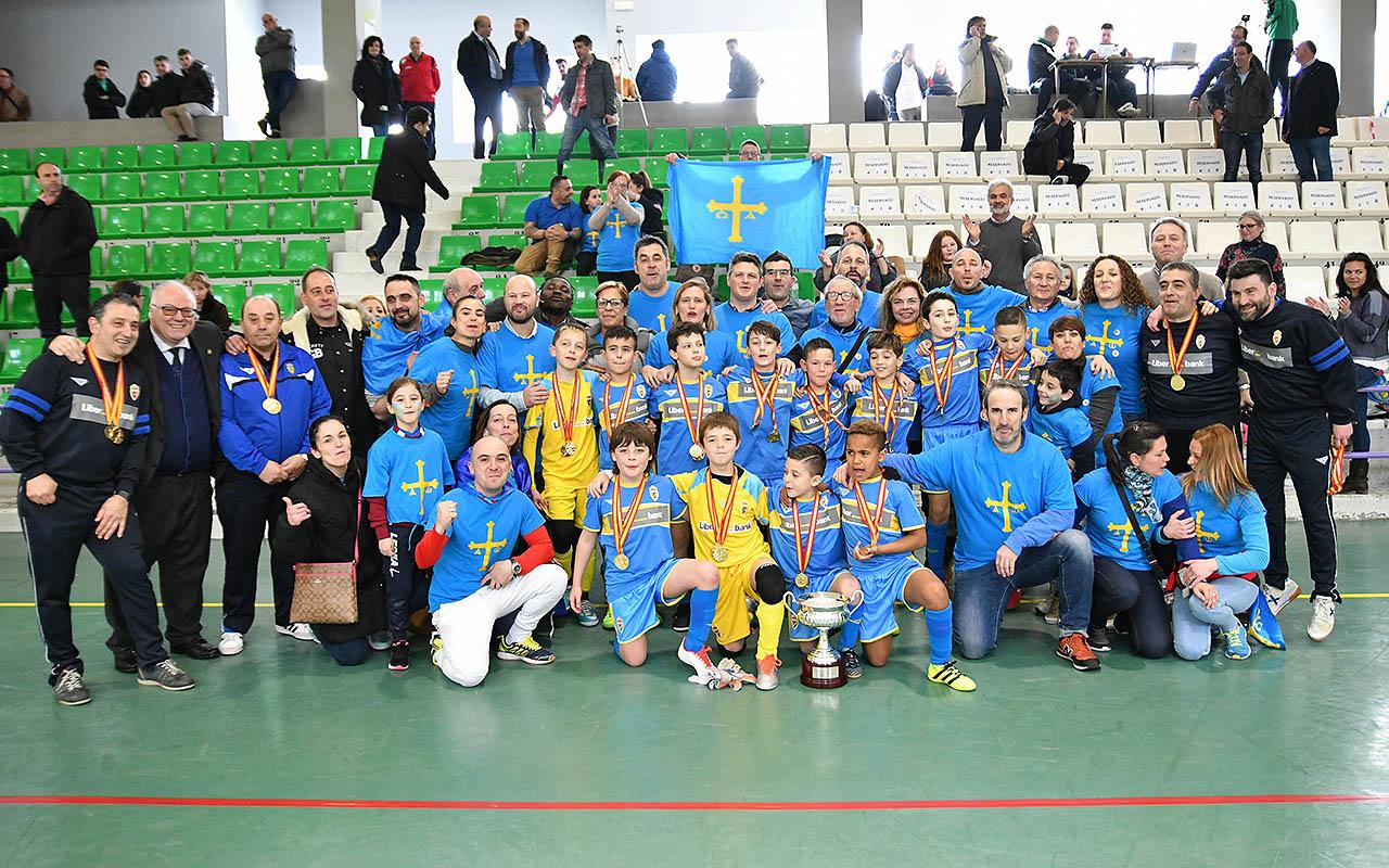 Asturias, Campeona de España Benjamín Fútbol Sala en Montijo (34)