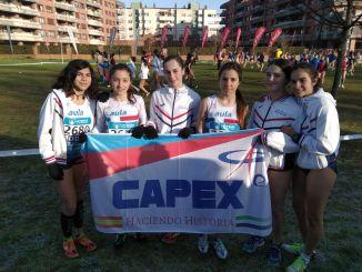 Buen papel de los atletas del Capex en el Campeonato de España de cross por Clubs