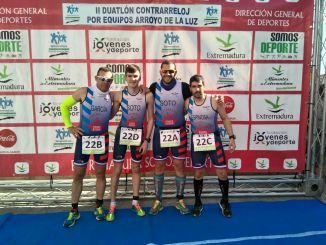 Varios Triatletas del Capex participaron en el Duatlón contrarreloj por equipos e individual de Arroyo de la Luz