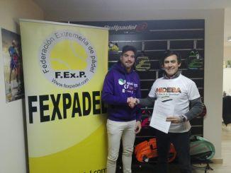 El Mideba y la Federación Extremeña de Pádel juntos tras firmar un convenio de colaboración