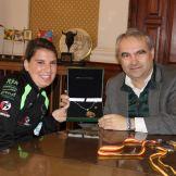 El alcalde de Badajoz recibe a la campeona de España Elena Ayuso (1)