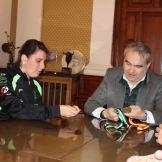 El alcalde de Badajoz recibe a la campeona de España Elena Ayuso (3)