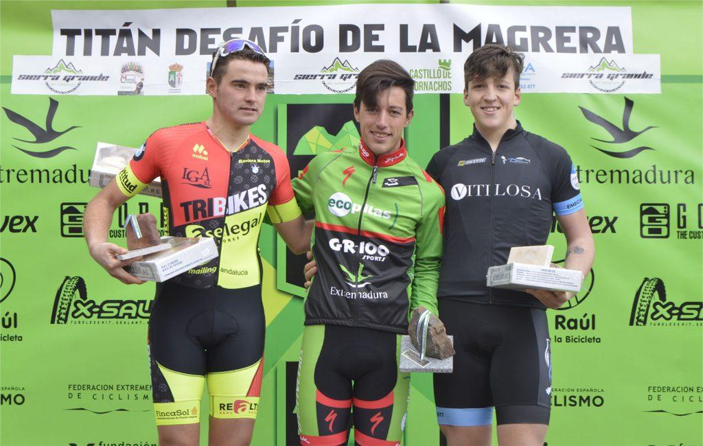 Manu Cordero mejor sub 23 en el Desafío de la Magrera, en Hornachos.
