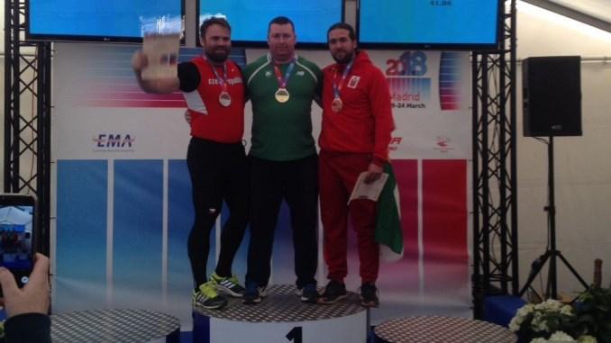 Miguel Lázaro consigue la medalla de bronce en el Campeonato de Europa Máster en Lanzamiento de Disco