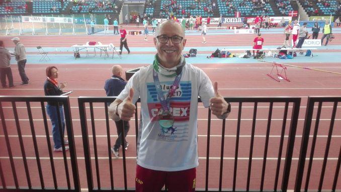 Miguel Periañez Campeón de Europa Máster en los 3KM Marcha