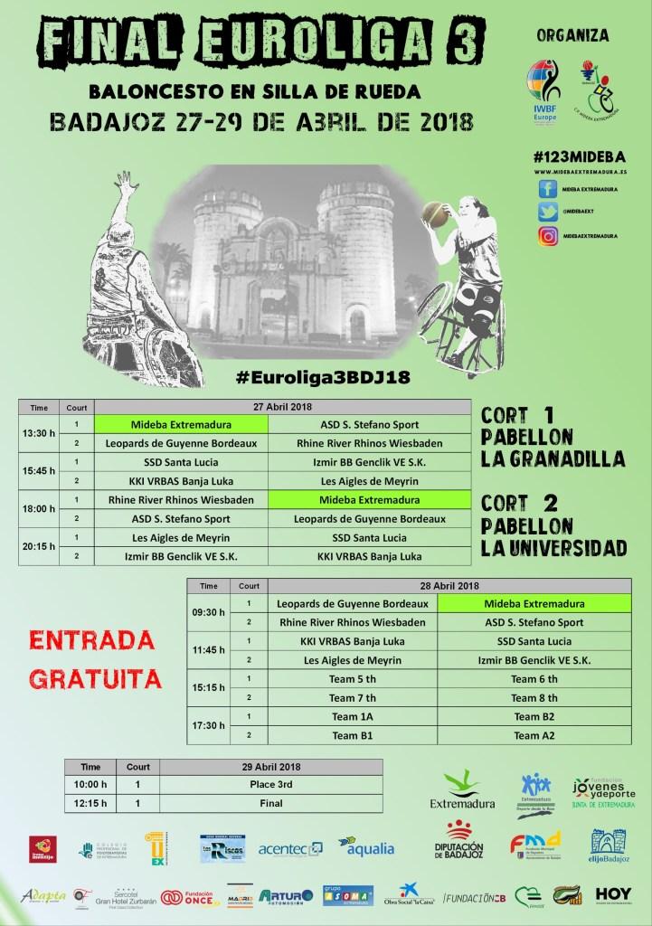 Convocatoria Rueda de Prensa Presentación Final Euroliga 3 2018