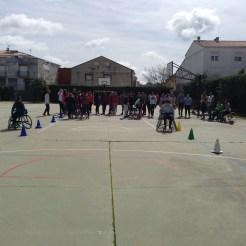 Integrantes del Mideba Extremadura estuvieron en Alburquerque para mostrar el baloncesto en silla de ruedas (2)