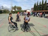 Integrantes del Mideba Extremadura estuvieron en Alburquerque para mostrar el baloncesto en silla de ruedas