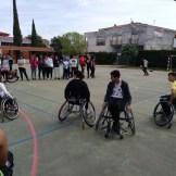 Integrantes del Mideba Extremadura estuvieron en Alburquerque para mostrar el baloncesto en silla de ruedas (8)