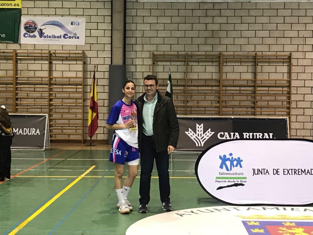 MVP Final Mamen Blanco - San Antonio Cáceres Basket y Carnes Pizarro Miralvalle, Campeones Junior de Baloncesto