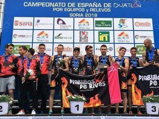 Tres extremeños en el podio del Campeonato de España de Duatlón por equipos