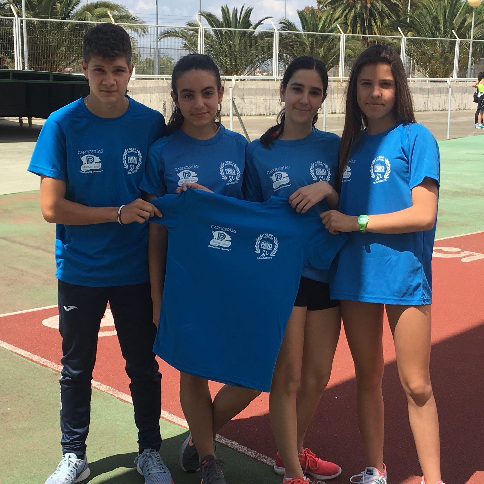 Tres pódiums para los Atletas del Club Atletismo Tiendas Pavo de Don Benito en los Campeonato de Extremadura Judex de Pista