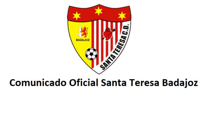 Comunicado Oficial Santa Teresa Badajoz