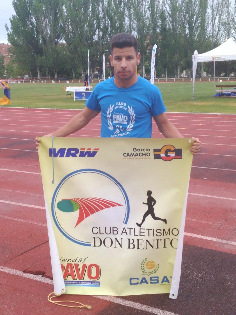 Eduardo Virlan Martín-Bejarano participo con la Selección Extremeña en el Campeonato de España de pista Jedes