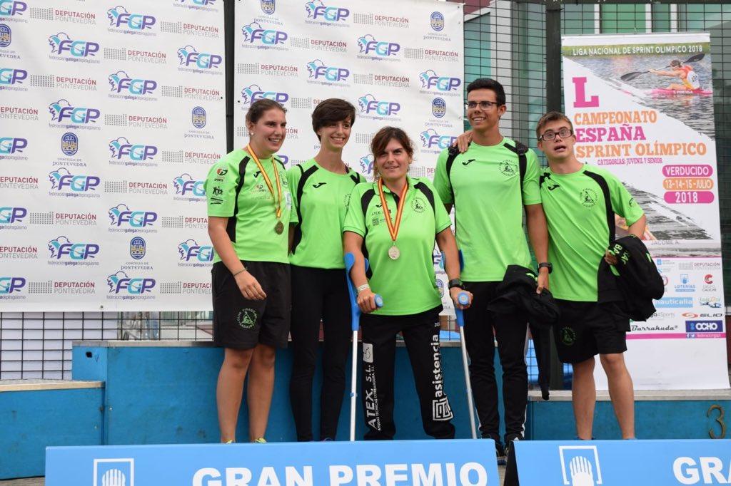 Inés Felipe yElena Ayuso del Piraguismo Badajoz se proclamaban Campeonas de España