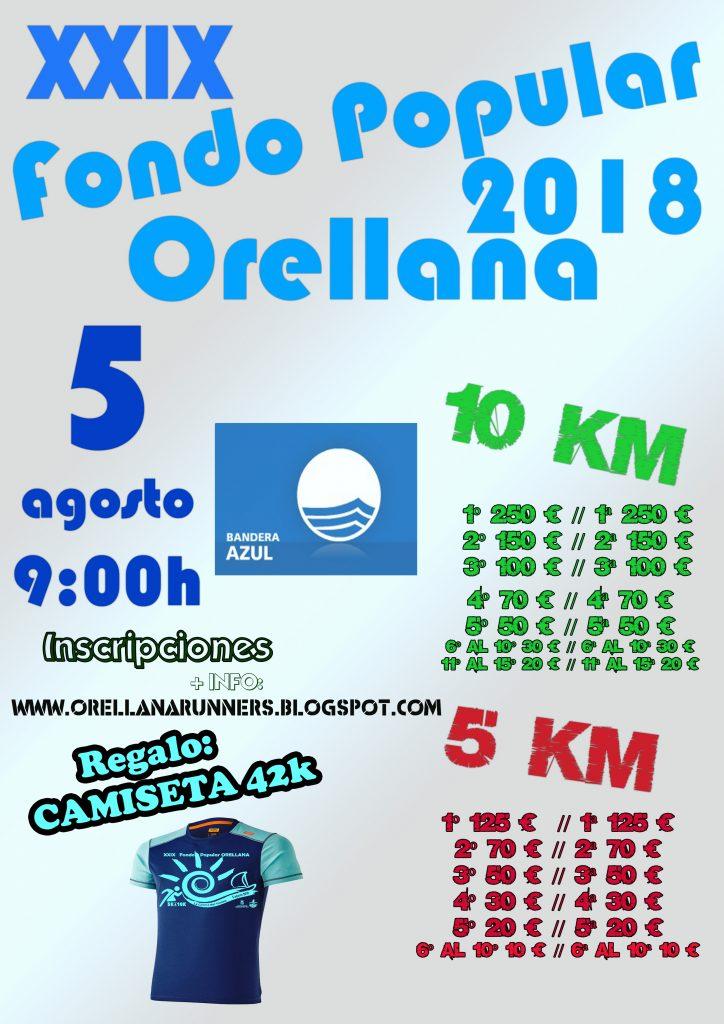 Ampliado el segundo plazo hasta el 3 de agosto, o agotar plazas del XXIX edición del Fondo Popular de Orellana