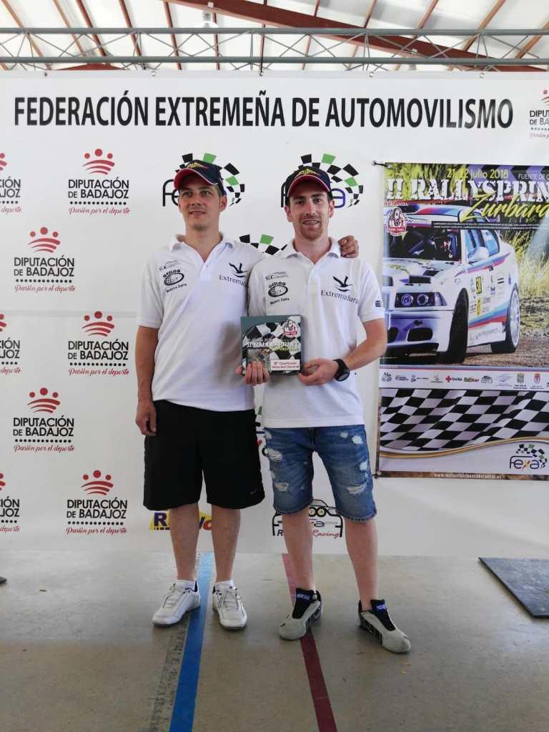 Paco Montes y David Collado lideran el regional de asfalto tras el Rallysprint Zurbarán