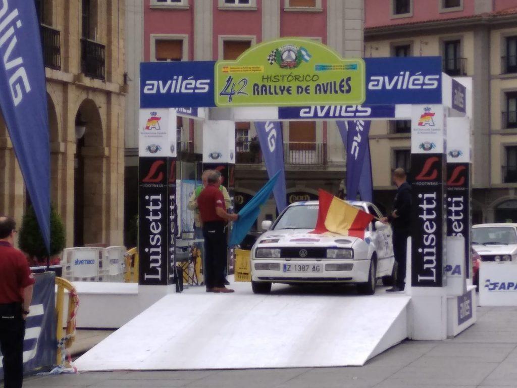 Segundo puesto para Concha Velázquez en el Rallye de Avilés Histórico