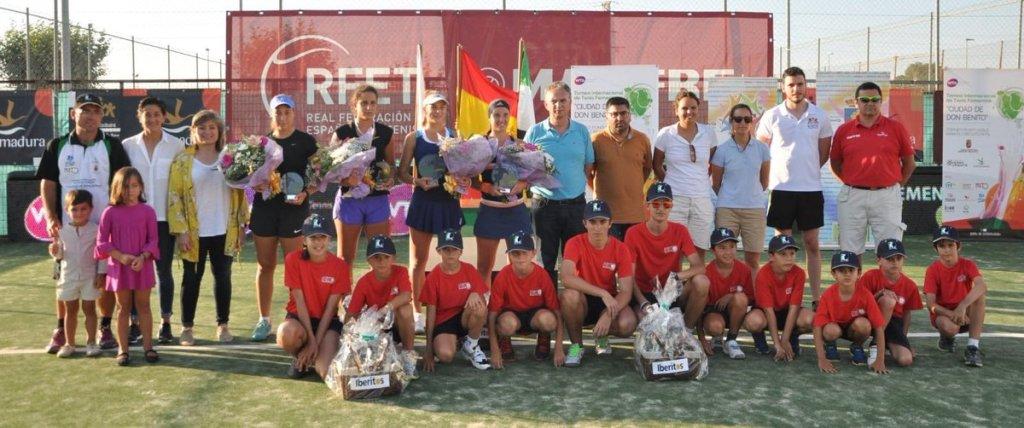 Marina Basols e Irina Cantos ganan la final de dobles del III Torneo Internacional Ciudad de Don Benito