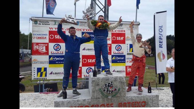 Tercera plaza de José Antonio Casado en el Autocross de Arteixo