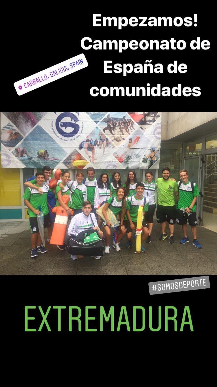 La selección Extremeña de Salvamento y Socorrismo Séptimos de España por Equipos en el Campeonato de España por Comunidades Autónomas