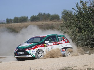 Paco Montes y David Colladoconsiguieron resarcirse de su séptima posición en Cervera con una trabajada segunda posición en la Copa Kobe Motor delIV Rally Circuito de Navarra,penúltima cita puntuable del nacional de tierra.