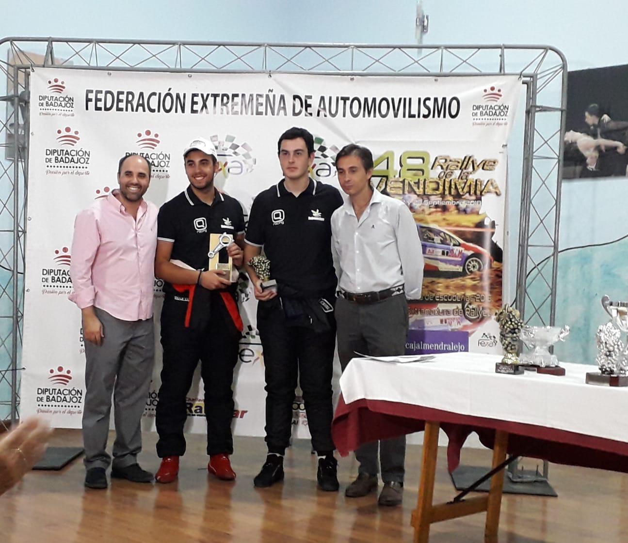 Colorado y Martín debutan con victoria en el Q Racing en el Rallye de la Vendimia