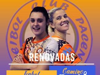 Camino Merchán e Isabel Rivera renuevan por el Extremadura Pacense Voleibol