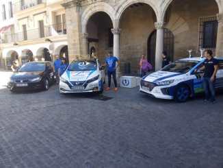Victoria de los extremeños José María Prieto Maroto y Melodie Vicente en la vertiente Euro 6 en el Eco Rallye Ciudad de Plasencia