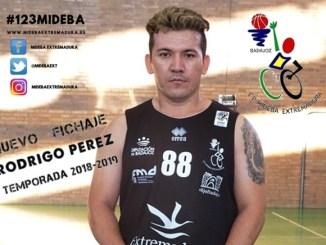 RODRIGO PÉREZ cierra la plantilla del MIDEBA EXTREMADURA