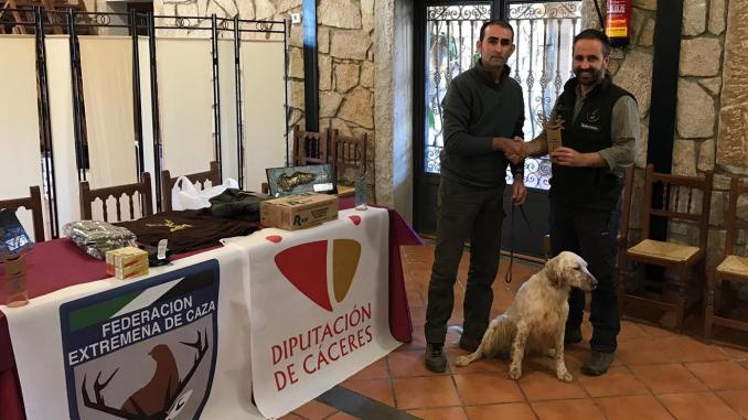 Manuel Ángel Silverio, campeón de Extremadura de Becadas 2018
