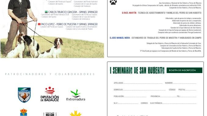 Quintana de la Serena acoge el 26 y 27 de enero el I Seminario San Huberto para los niveles iniciación y concursante