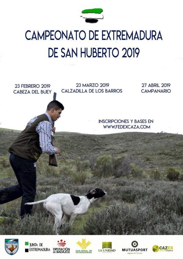 Cabeza del Buey, Calzadilla de los Barros y Campanario acogerán las tres fases puntuables del Campeonato de Extremadura de San Huberto 2019