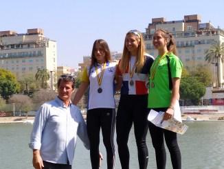Los palistas extremeños consiguen 6 medallas en el Campeonato de España de Invierno (4 Oros y 2 Bronces)
