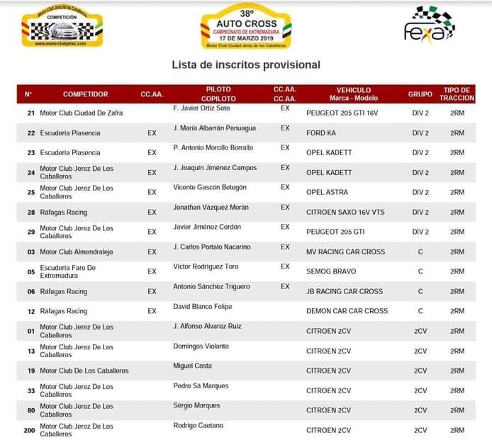 Arranca el Campeonato de Extremadura de AUTOCROSS