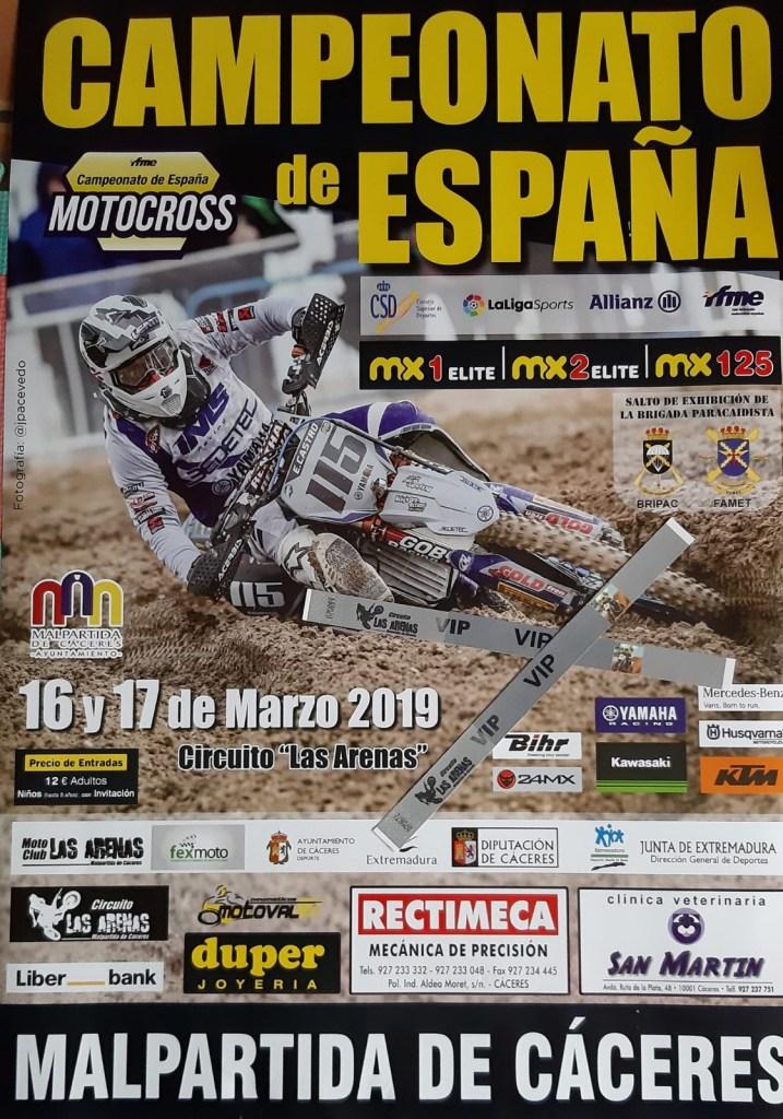 Malpartida de Cáceres se prepara para recibir el Campeonato de España de Motocross