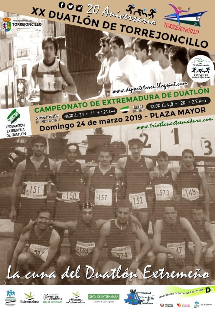 El Duatlón de Torrejoncillo cumple 20 años este Domingo 24 de Marzo siendo Campeonato de Extremadura 2019