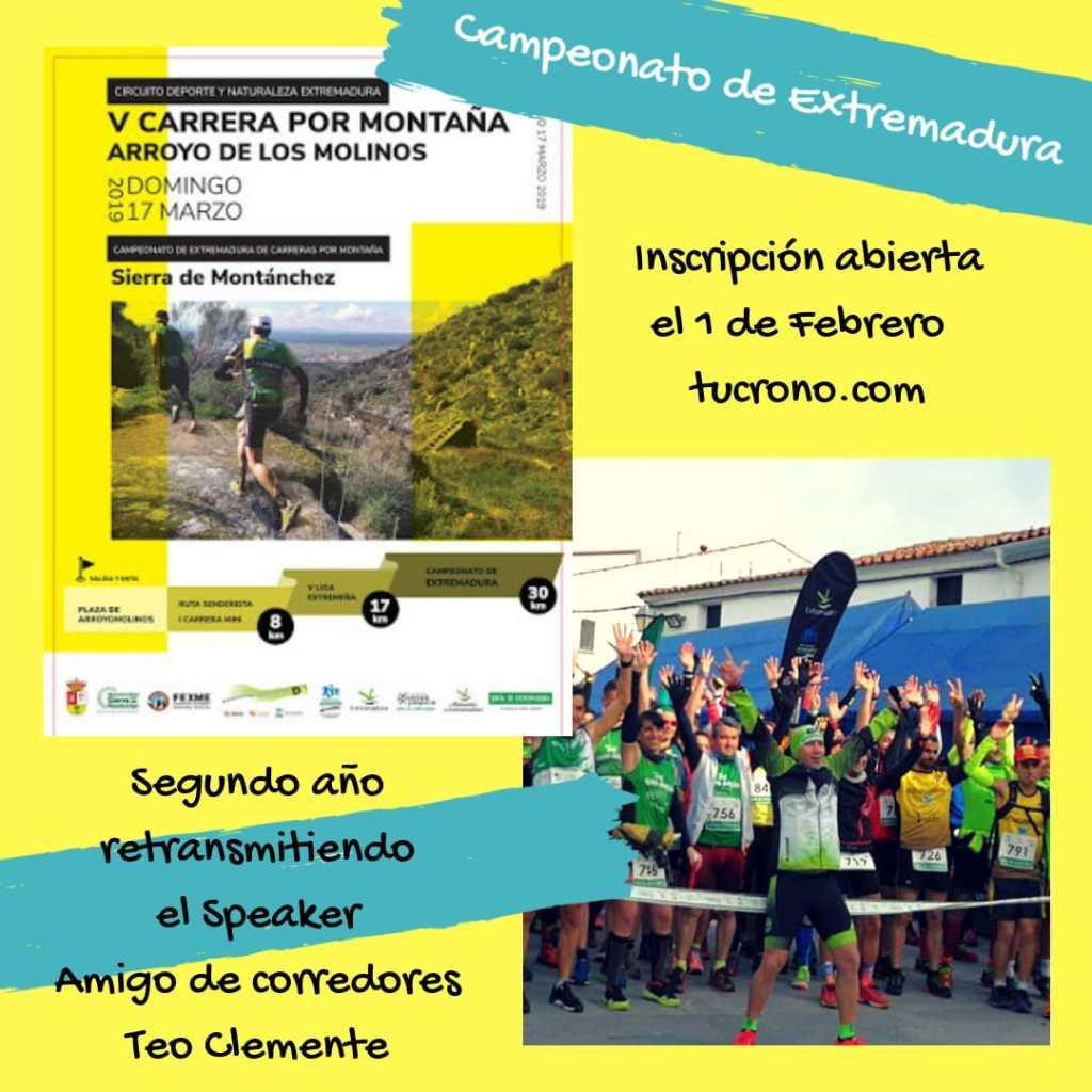 V Carrera por Montaña Arroyo de los Molinos del Campeonato de Extremadura