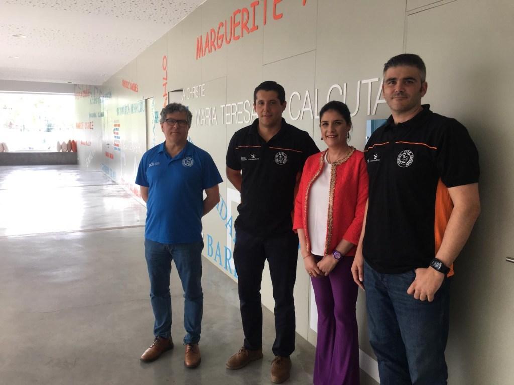 El Club Pacense Voleibol y el IMEX se reúnen para proyectos ilusionantes